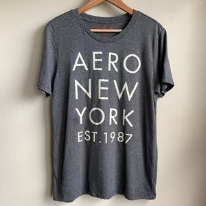 Arropostale New York charcoal gray graphic T-shirt